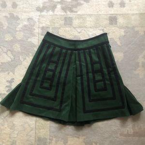 Anthro Green Skirt size 6